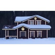дом с украшением вариант 2