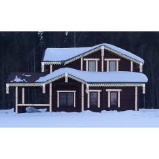 дом с украшением вариант 3